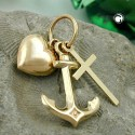 Pendentif Or 9K croyance amour coeur