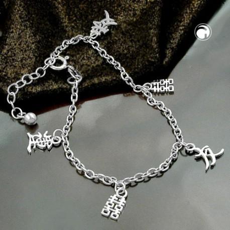 Bracelet en argent symbole chinois