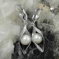 Boucles d'oreilles argent avec perle de culture