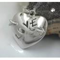 Pendentif coeur transpercé d'une flèche en argent