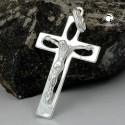 Pendentif croix en argent avec le Christ