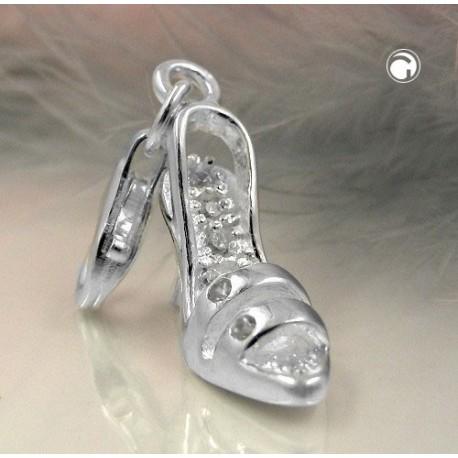 Breloque, charm chaussure dame en argent