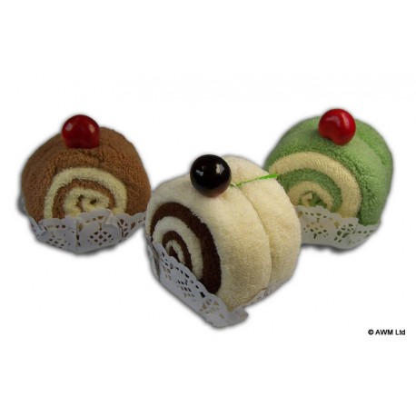 Serviette gourmande tranche de swiss roll