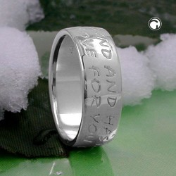 Bague en argent avec inscription LOVE AS NO END