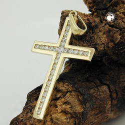 Pendentif croix en Or 9K