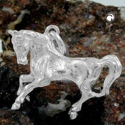 Pendentif cheval en argent