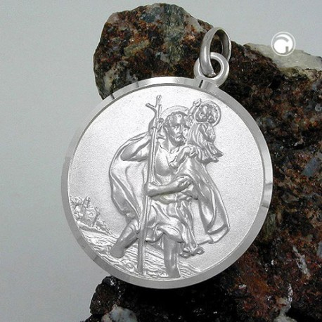 Pendentif médaille St Christophe en argent