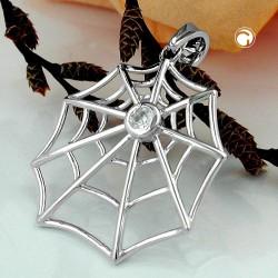 Pendentif toile d'araignée en argent