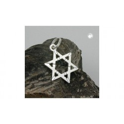 Pendentif étoile de David en argent
